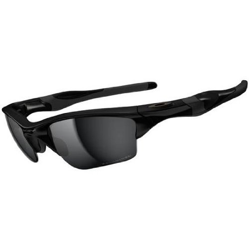 Oakley Half Jacket 2.0 XL Sunglasses Polished Black / Black Iridium Polarized & Carekit - 2.0 Half Jacket Oakley Xl