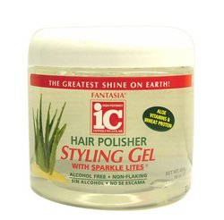 Fantasia High Potency IC Hair Polisher Styling Gel, with Sparkle Lites, 16 oz. (Fantasia Hair Polisher)