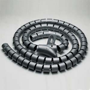 InstallerParts 20mm Spiral Cable Wrap Desktop Computer Cable Management, Black (1.5M) - 3g Handset