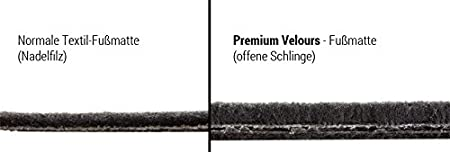 Azuga Premium Velours Fußmatten Fahrzeugspezifisch Az14000132 Auto