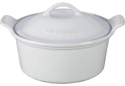 Le Creuset Heritage Stoneware Covered Round Casserole Dish, 3 Quart