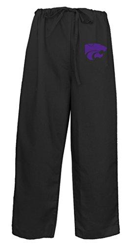 Kansas State Scrub Pants Scrubs Drawstring Bottoms for Men Ladies! LG