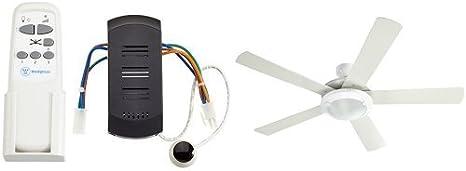 Westinghouse - Ventilador de techo blanco + mando a distancia por infrarrojos: Amazon.es: Iluminación