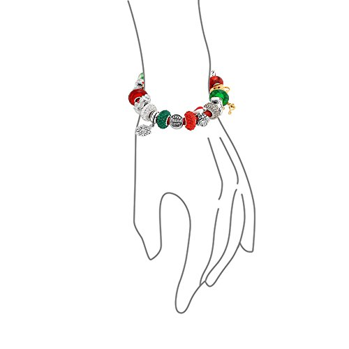 Bling Jewelry 925 Silver Christmas Live Love Laugh Enamel Crystal Glass Bracelet by Bling Jewelry (Image #2)