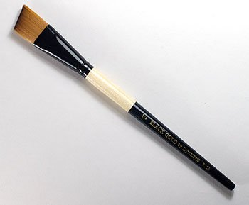 Dynasty Black Gold Series Synthetic Brushes Short Handle 3/4 in. angular by DYNASTY (Image #1)