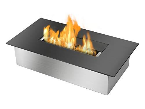 Ignis EB1400 Black Ventless Bio Ethanol Fireplace Burner Ins