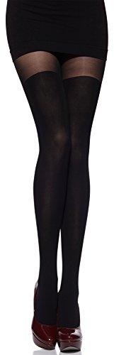 Merry Style Damen Strumpfhose mit Overknees Muster 80 DEN MSSSR01