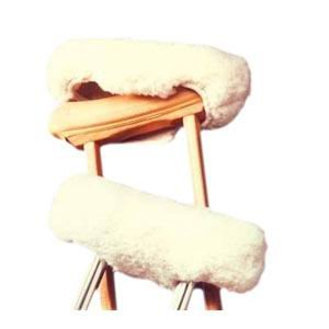 Hermell ProductsSet of Faux Shearling Crutch Cover and (Sheepskin Crutch Cover)