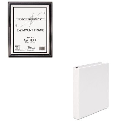 KITNUD10570UNV20962 - Value Kit - Nu-dell EZ Mount Document Frame (NUD10570) and Universal Round Ring Economy Vinyl View Binder (UNV20962)