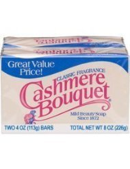 Four 2-Count (8) Cashmere Bouquet Mild Beauty/Bath Bar Soap, 4 oz. ea.