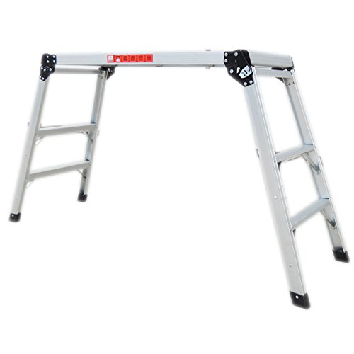 Aluminum Folding Step Platform Work Bench Stool Ladder