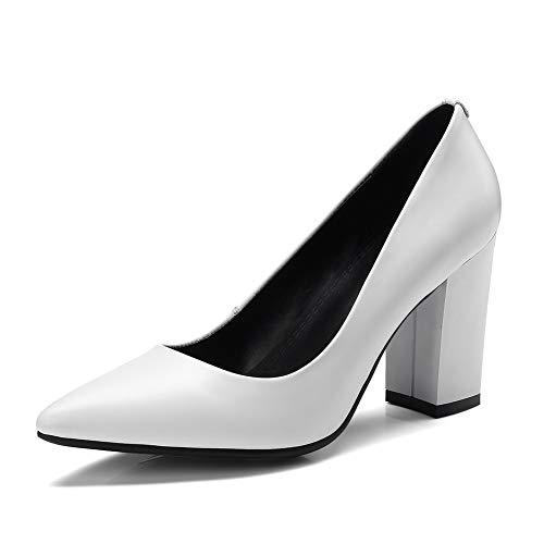 Solid Business Pumps White Shoes APL11143 Urethane Comfort BalaMasa Womens SHUqxBOx