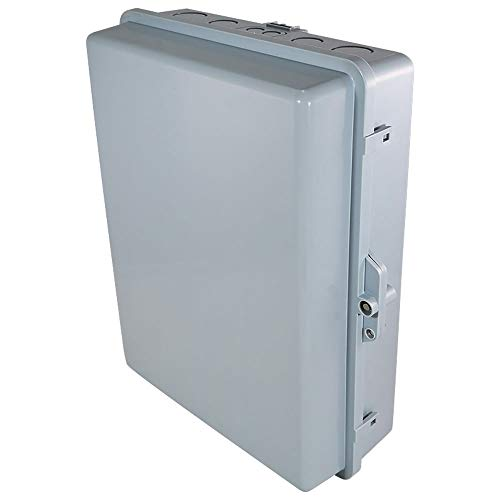 "Altelix NEMA Enclosure 17x14x6 (14"" x 9"" x 4.5"" Inside Space) Polycarbonate + ABS Tamper Resistant Weatherproof Rainproof"