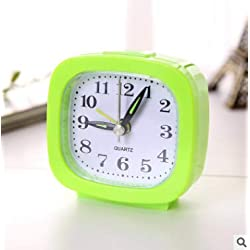 WVRGHQTG Household Decor Brief Digital Table Clock Bed Room Clock Alarm Clock Snooze Pokemon Mini Mute Silent Alarm Clocks Green