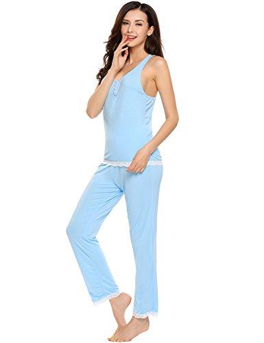 Pj Tank (Avidlove Womens Sexy Lightweight PJs Pajamas Set with Tank Lace Sleepwear)