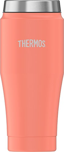 Thermos 16 Ounce Stainless Steel Travel Tumbler, Peach by Thermos