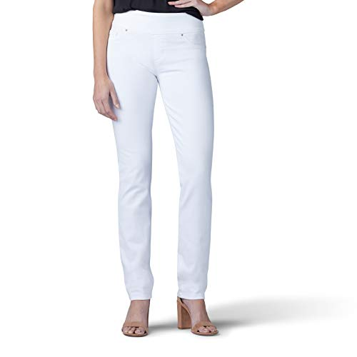 - LEE Women's Sculpting Fit Slim Leg Pull On Jean, White, 12