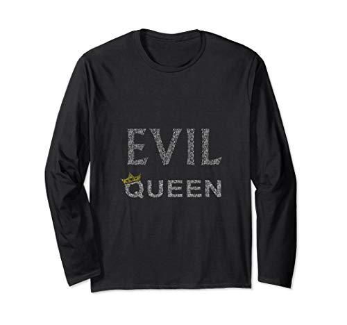 Evil Queen T-shirt Crown Black Heart Halloween Costume Tee ()
