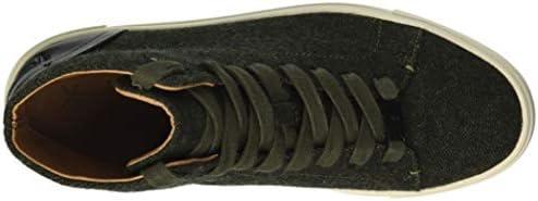 Frye Women's Ivy High Top Sneaker, Olive, 5.5 M US