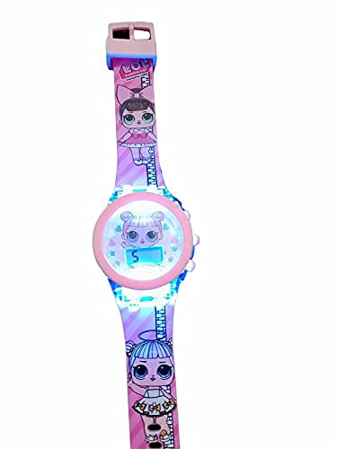 Mashoor Party Maker® Hello Kitty / Frozen / Princess Digital Led Glowing Watch for Girls  assorted