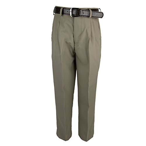 Bocaccio Boys Pleated Dress Pants With Belt Taupe 20 -