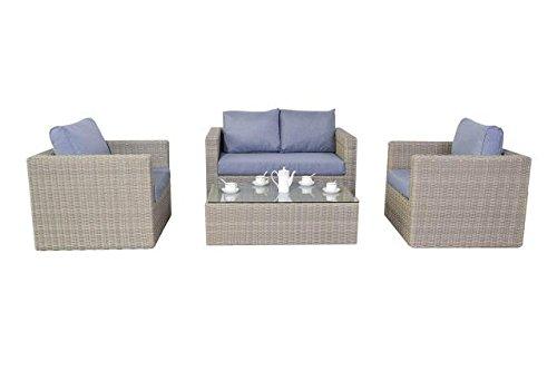 Ländlichen Rattan Garten Möbel klein Sofa-Set