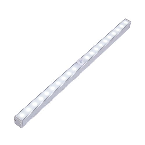 Battery Closet Lights, Portable Stick on Anywhere 20 LED Motion Activated Under Cabinet Lights Portable Attics Night Lighting with Magnetic Strip