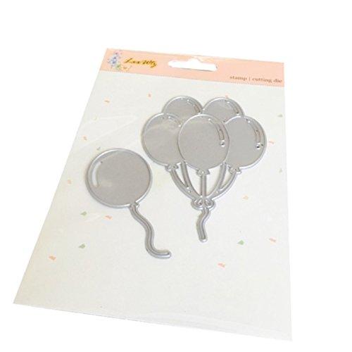 Cutting Dies,CMrtew New Metal Cutting Dies Stencils DIY Scrapbooking (Balloons)