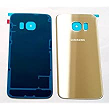 Samsung Galaxy S6 Edge Back Glass Replacement Original Glass Cover |Simple Housing & Adhesive Preinstalled Part | Glass Panel Case for S6 EDGE SM-G925W8, S6 SM-G925A, SMG-925V, SM-G925R4 &SM-G925F (Gold Platinum)
