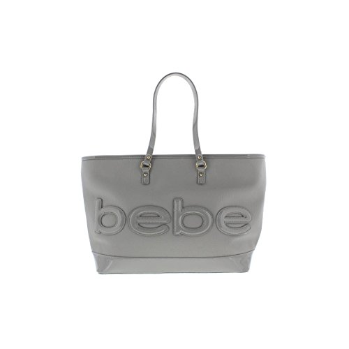 bebe-womens-madison-faux-leather-embossed-tote-handbag-gray-large