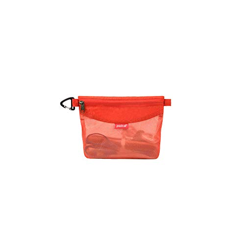 pack all All-Purpose Waterproof Material Travel Packing Pouches Storage Packing Bag with Zipper for Travel, Office, Arts, Outdoor (Orange Small) (Skyline Products Outdoor)