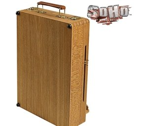 Soho Urban Artist Sketch Box and Table Artist Easel - All Media Table Easel and Sketch Box with 5 Compartments for Storage - Oiled Beechwood