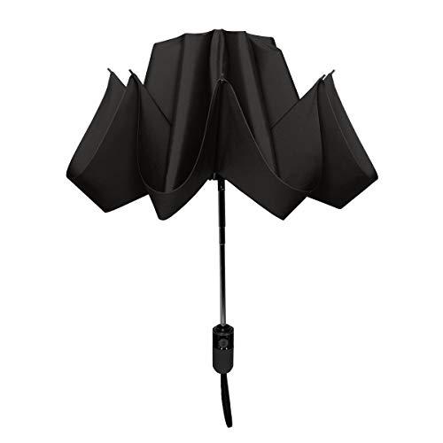 ShedRain UnbelievaBrella Reverse Compact Umbrella:Black