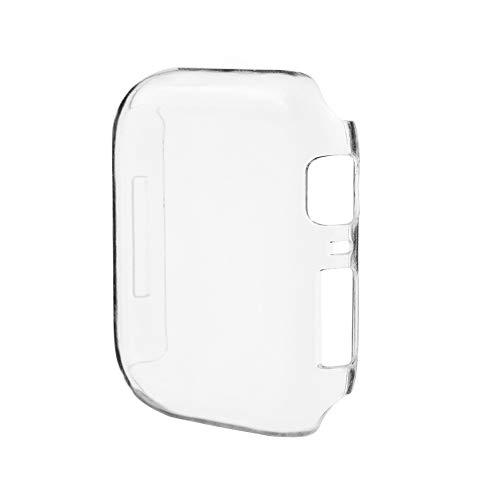 - SUKEQ Apple Watch Series 4 44mm Case, 2018 New Slim Clear PC Hard Screen Protector Bumper Cover Skin Shell for iWatch Series 4 44mm (Clear)