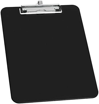Wedo 576601 Klemmbrett A4, Stifthalter, Aufhängeöse, Metallklemme 32, 9 x 22, 7 x 1, 5 cm, Polystyrol, schwarz