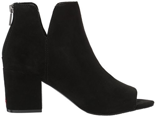 Kenneth Cole Reaktions Kvinnor Rida Blom- Peep Toe Embroidered Bootie Känga Svart