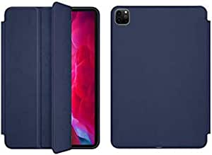 For Apple Ipad Pro 12.9 2020 Smart Case Flip Cover - Dark Blue