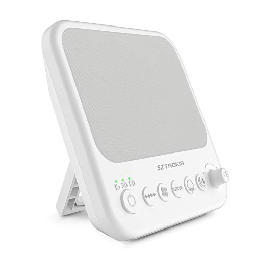 (White Noise Machine, Sztrokia Sleep Sound Machine for Baby, Office Privacy, Travel, Insomniac -10 Unique Sound Therapy with Fan Noise, White Noise and Natural Sounds, Sleep Timer, USB Charger Port )