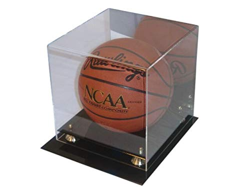 Deluxe UV Protected Acrylic Basketball Display With Mirror - Sports Memoriablia Display Case