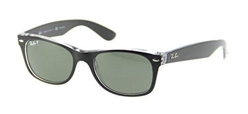 Wayfarer ban New On Unisex Transparent Ray Polarized Black Top green Rb2132 Sunglasses dtqwFgB