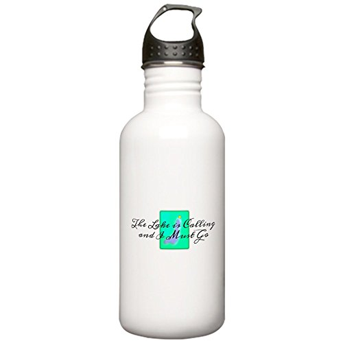 CafePress - The Lake is Calling and I Must Go Stainless Water - Stainless Steel Water Bottle, 1.0L Sports Bottle by CafePress