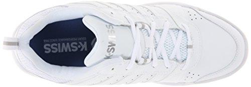 K-Swiss Performance Ks Tfw Vendy Ii-white/Navy-m - Zapatillas de tenis Hombre Blanco/Plateado
