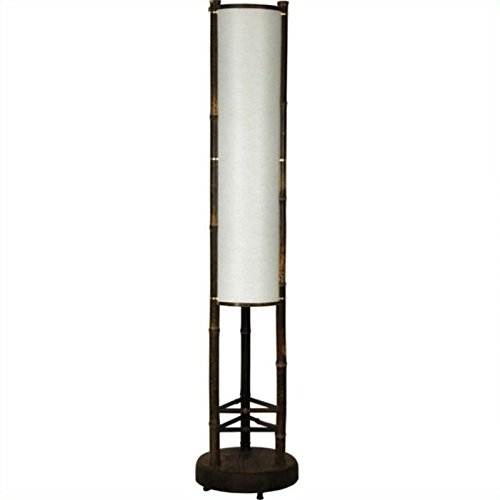 Koru Japanese Bamboo Shoji Lantern Floor Lamp + Expert (Triangles Lamp Shade Top)