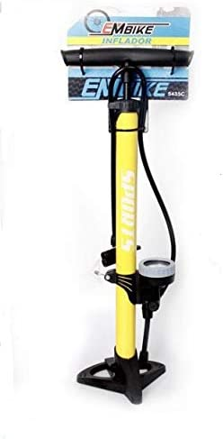 Bike EM Bomba Inflador de Deportes con Man/ómetro Profesional para Bicicletas y Motocicletas.