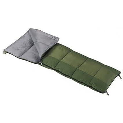 Wenzel Schlafsack Summer Camp 30 Degree - Saco de dormir rectangular para acampada, color verde