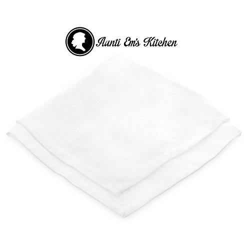 Aunti Em's Kitchen White Cotton Napkins Cloth 20 x 20 Oversized 100% Natural Bulk Linens for Dinner, Events, Weddings, Set of 12 by Aunti Em's Kitchen (Image #6)
