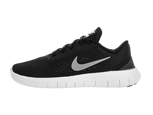 Nike Boy's Free RN (PS) Pre-School Shoe Black/Metallic Silver/Anthracite Size 12 Kids US by Nike (Image #2)