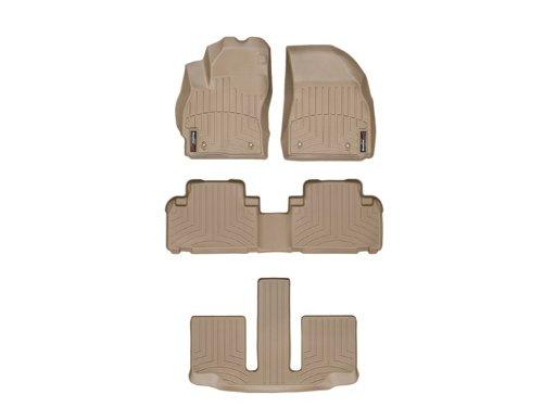 453511-45274-2-3 FloorLiner with Center Aisle, Front//Rear, Tan WeatherTech