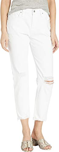 Hudson Jeans Women's JESSI Relaxed CROPPD Boyfriend Jean, Optic Crush (Destructed), 26 ()