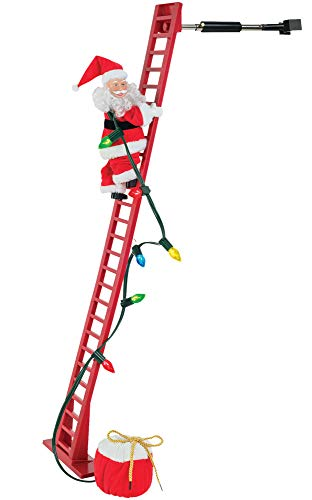 Mr. Christmas Super Climbing Santa Holiday Decor, Red ()